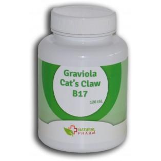 Graviola + Cat´s Claw /Mačací pazúr/+ B17 100 ks