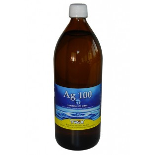 Koloidné striebro Ag100 1000 ml 25 ppm