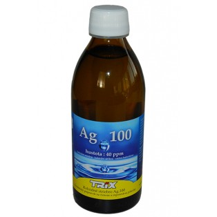 Koloidné striebro Ag100 300 ml 40 ppm - vypredané