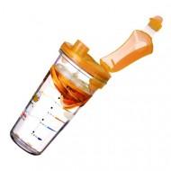 Shaker na nápoje oranžový vrchnák PC 318 450 ml