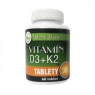 Vitamín D3+ K2, 60 tabliet